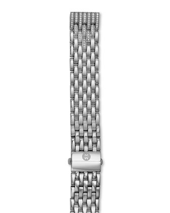 Deco Moderne II Stainless Diamond Watch Head & 16mm Diamond Bracelet