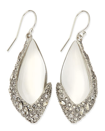 Asymmetric Lucite Drop Earrings