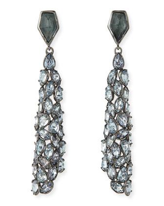 Miss Havisham Liquid Crystal Drop Earrings