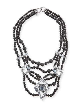 Miss Havisham Onyx Beaded Necklace