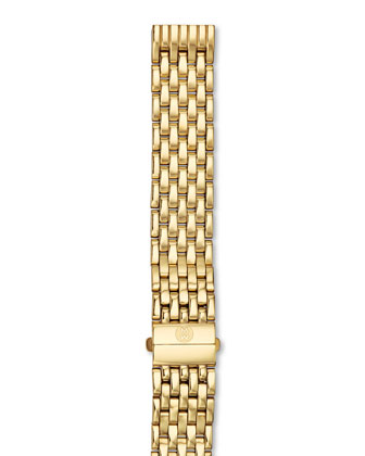 Deco Moderne II Gold Plate Diamond Watch Head & 16mm Gold Bracelet ...