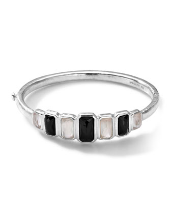 Sterling Silver Wonderland Vertical 7-Stone Hinged Bangle in Astaire