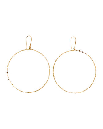 14k Gold Large Blake Hoop Earrings
