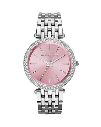 Stainless Steel Pink-Dial Darci Watch