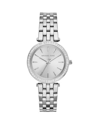 Mini Darci Silver Stainless Steel Glitz Watch