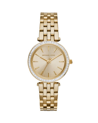 Mini Darci Golden Stainless Steel Glitz Watch