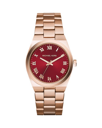 Channing Rose Golden Stainless Steel Watch