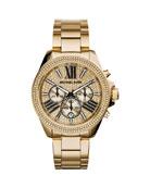 Wren Full Pave Golden Stainless Steel Watch