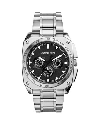 Silver Stainless Steel Grand Stand Watch