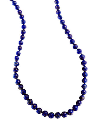 Splash Lapis Beaded Necklace