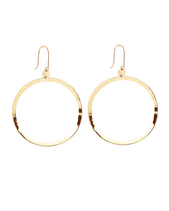 Small 14k Gold Wave Hoop Earrings