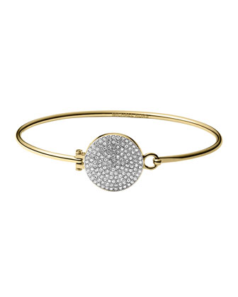 Golden Pave Hinge Bangle