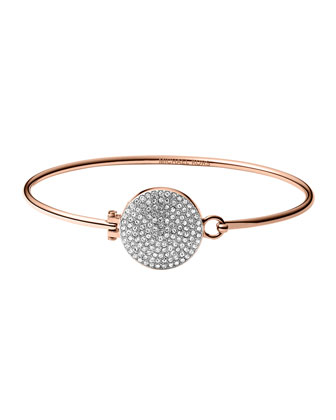 Rose Golden Pave Hinge Bangle