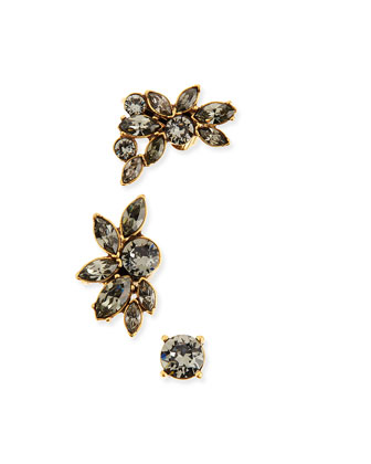 Navette Crystal Ear Cuffs & Stud Set