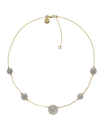 Golden Pave-Disc Necklace