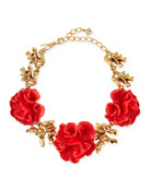 Red Coral-Motif Necklace