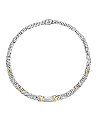 Diamond Lux Silver & Gold Rope Necklace