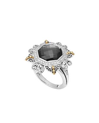 Empress Hematite Doublet Ring