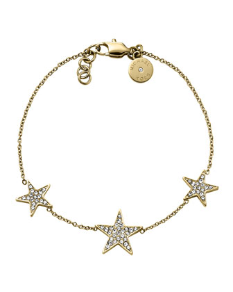 Golden Pave Star Bracelet