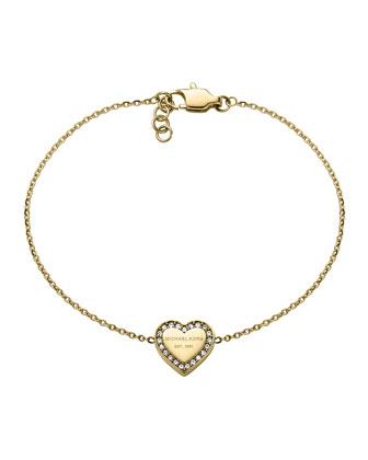 Golden Logo Heart Bracelet