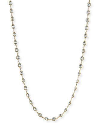 Bezel White Topaz Karen Chain Necklace