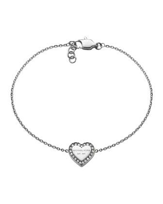 Silver Logo Heart Bracelet