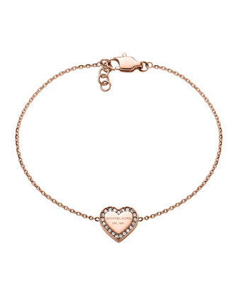 Rose Golden Logo Heart Bracelet