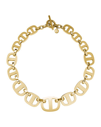 Golden Maritime Link Necklace