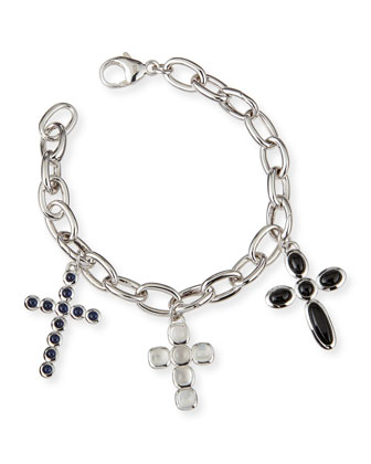 Triple Cross Charm Bracelet