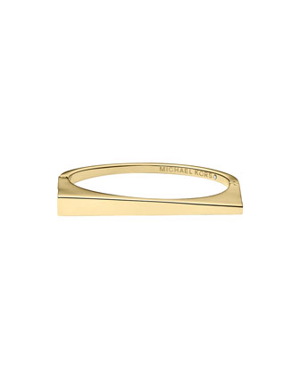 Golden Triangle Hinge Bangle
