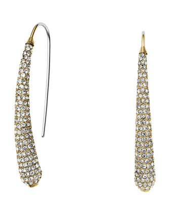 Golden Pave Statement Drop Earrings