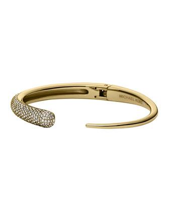 Golden Pave Asymmetric Hinge Cuff
