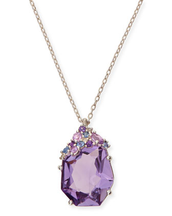 Velvet Marquise Small Amethyst Pendant Necklace