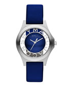 34mm Henry Skeleton Watch, Blue