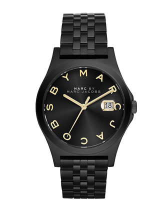 36mm The Slim Bracelet Watch, Black IP