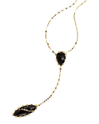 Noir 14k Lariat Necklace in Onyx