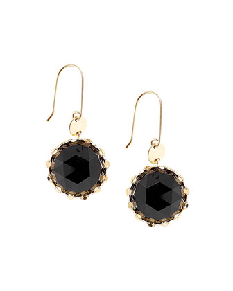 Black Onyx Noir Rose-Cut Earrings