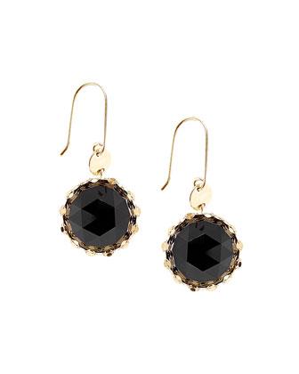 Black Onyx Noir Rose-Cut Earrings