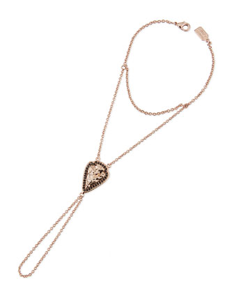 Archer Arrowhead Hand Chain, Rose Gold-Plate