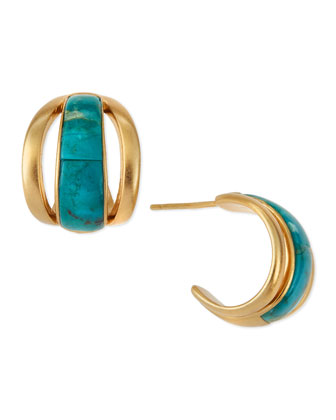 Inlaid Turquoise Cage Earrings