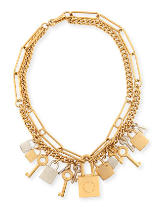 Lock & Key Statement Necklace