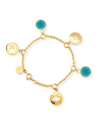 Cutout Cosmic Coin Bracelet, Green
