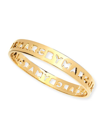 Cut it Out Logo Bangle, Golden
