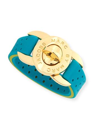 Perf-ection Rubber Lock Bracelet, Green