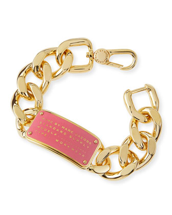 Standard Supply ID Chain Bracelet, Pink