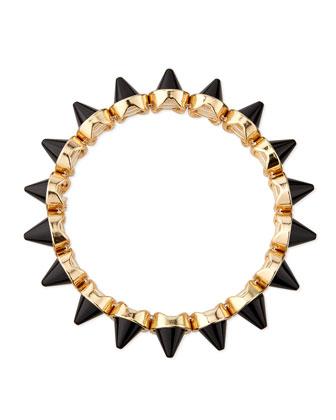 Mini Spike Stretch Bracelet, Black