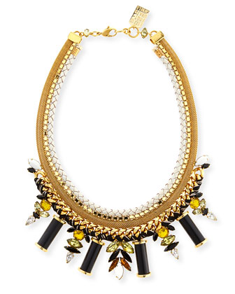 Lagoon Crystal Statement Necklace