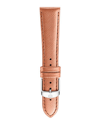 20mm Saffiano Leather Strap, Rose Gold