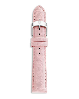 16mm Saffiano Leather Strap, Pink