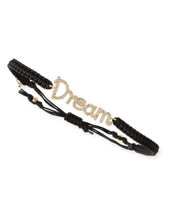 Dream Pave Crystal Cord Bracelet
